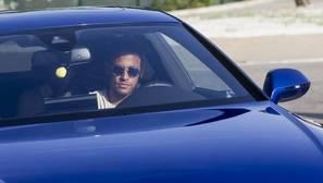 Neymar a su llegada al entrenamiento del Barcelona