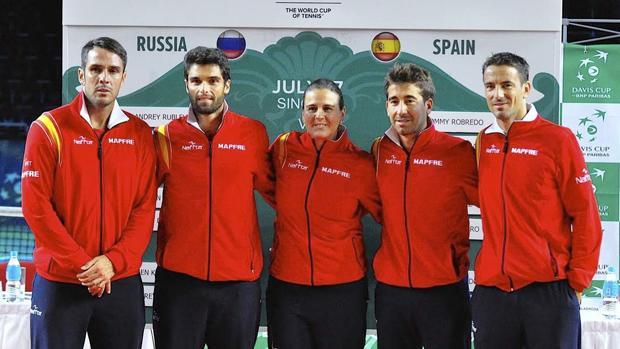El equipo español de Copa Davis que acaudió a la última eliminatoria
