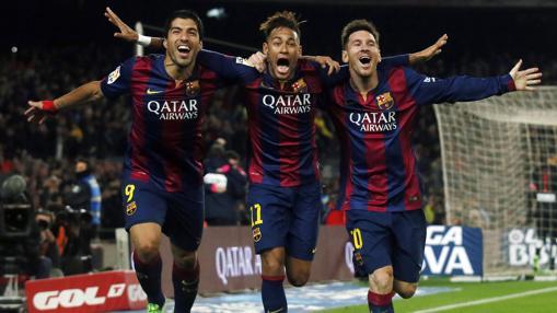 Uno de los mejores ataques de la historia del fútbol, con Suárez, Neymar y Messi