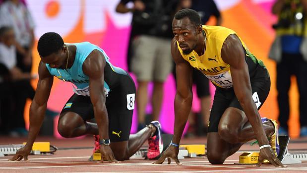 Bolt, en su posición de salida