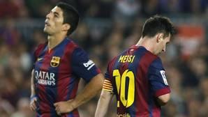 Messi y Luis Suárez durante un partido del Barcelona