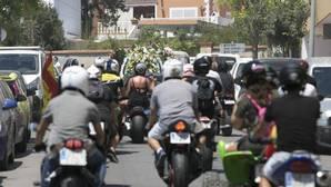 Quinientos motoristas siguieron al coche fúnebre