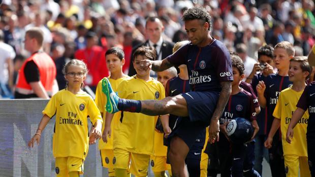 Neymar, en el Parque de los Príncipes