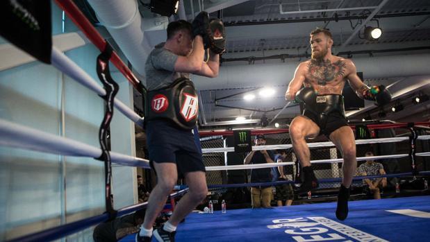 McGregor, en una sesión de 'sparring'
