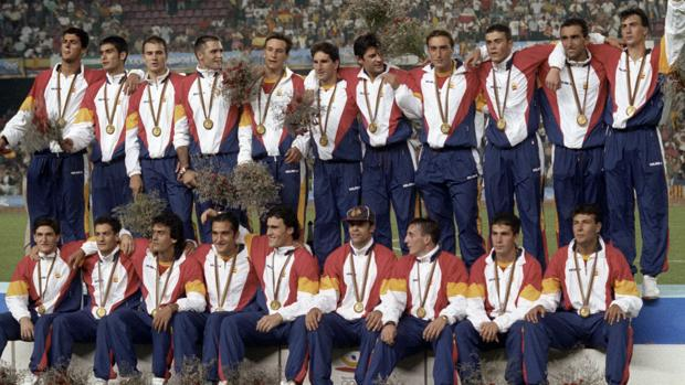 La selección española, camopeona olímpica en Barcelona 92