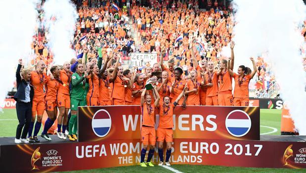 La selección holandesa, campeona de la Eurocopa