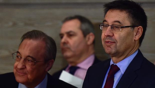 Josep Maria Bartomeu junto a Florentino Pérez