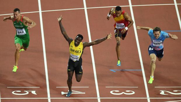 Imagen de la final de la prueba de 110 metros vallas