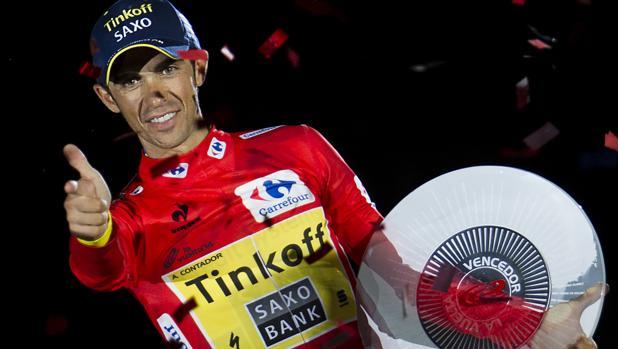 Contador, en su último triunfo en La Vuelta