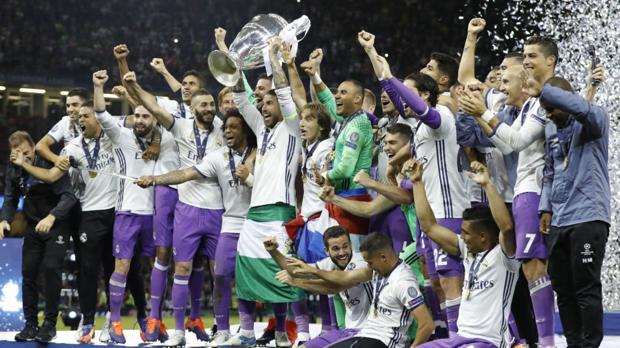 El Marid, celebrando la Champions ganada en Cardiff hace dos meses