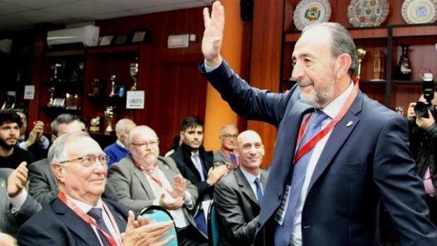 Paco Díez, el día de su elección como presidente de la Federación Madrileña de Fútbol