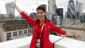 Ruth Beitia, en el hotel de la selección española en Londres