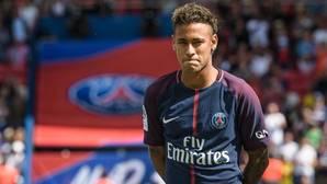 Neymar en su presentación en el Parque de los Príncipes