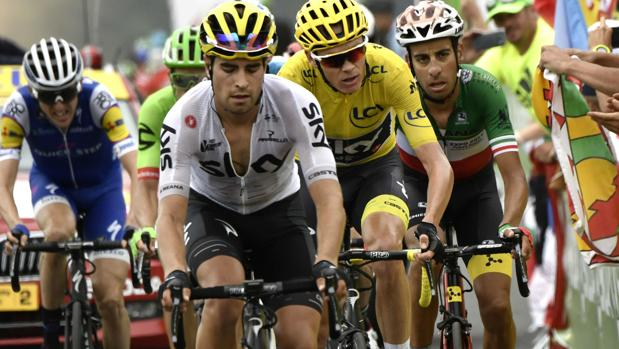 Landa tira de Froome en el último Tour de Francia