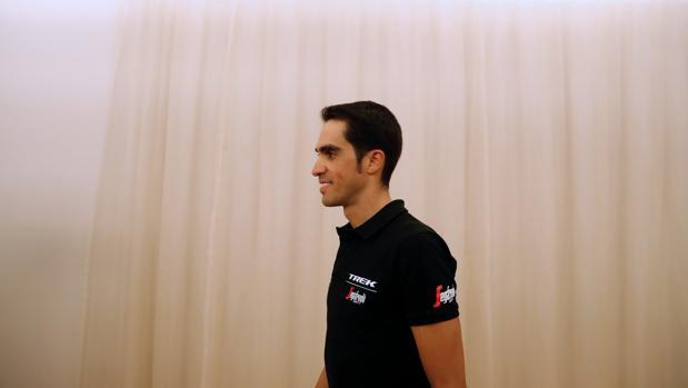 Alberto Contador, durante la rueda de prensa previa al inicio de la Vuelta a España