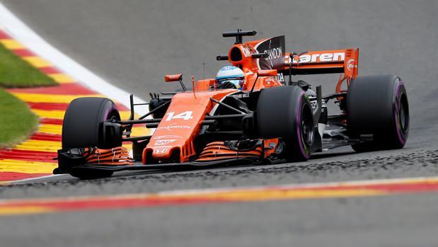 Fernando Alonso en el GP de Bélgica