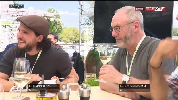 Los dos actores disfrutando en Monza