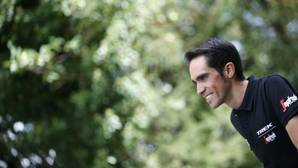 Alberto Contador en Laguardia