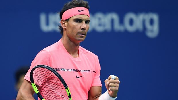 Rafael Nadal celebra un punto ante Rublev