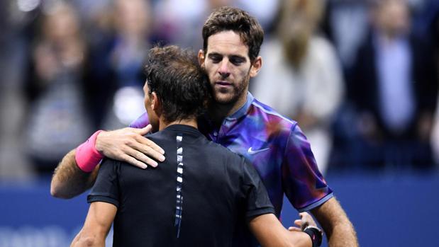Del Potro y Nadal en el US Open