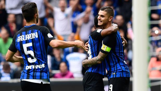 Inter-Spal:  Icardi y Perisic guían al Inter
