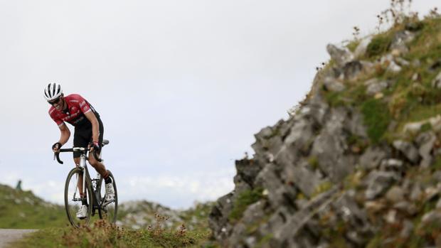 Alberto Contador, subiendo el Angliru