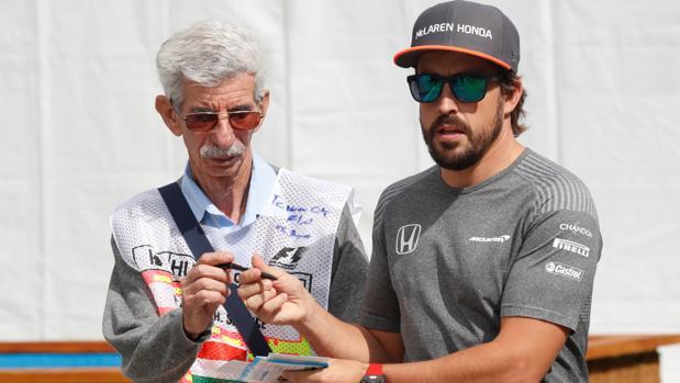 Alonso, durante el GP de Hungría