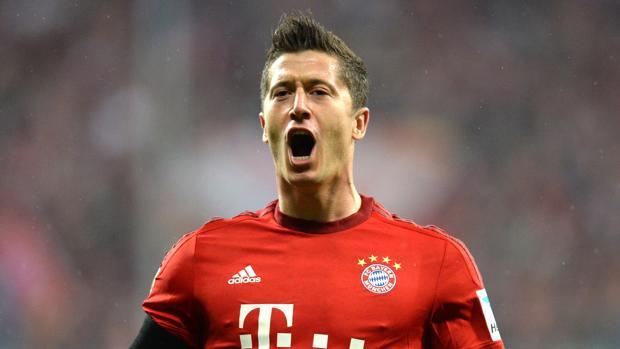 Robert Lewandowski, en un partido con el Bayern