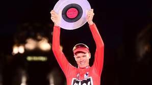 Chris Froome en el podio de La Vuelta