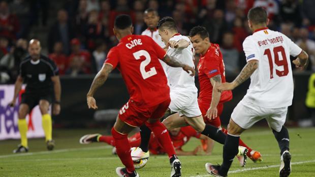 Final de la Europa League en 2016 entre el Liverpool y el Sevilla