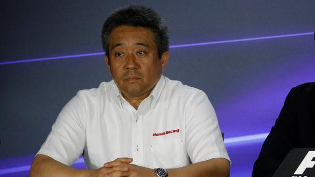 Masashi Yamamoto, durante la rueda de prensa del GP de Singapur