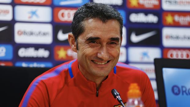 Ernesto Valverde durante la rueda de prensa previa al partido ante el Getafe