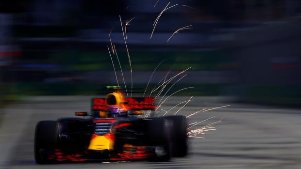 Max Verstappen, durante la tercera sesión libre en Singapur