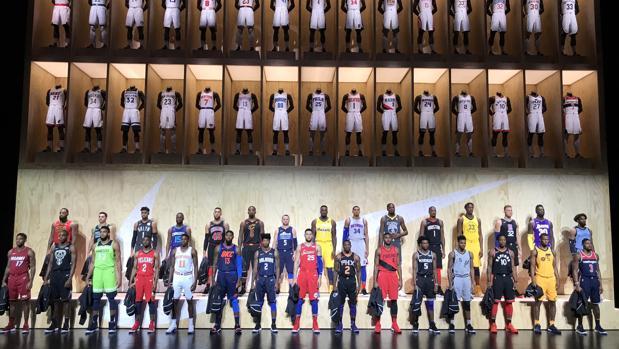 NBA:  Los nuevos y revolucionarios uniformes de la NBA