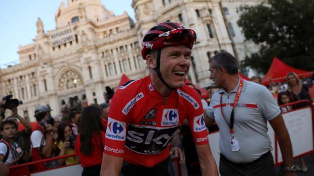 Froome, en Madrid tras ganar la Vuelta