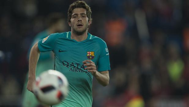 Sergi Roberto durante un partido del Barcelona