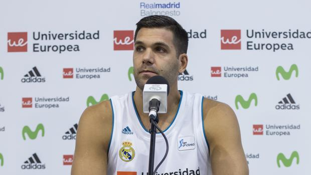Felipe Reyes, durante el «Media day» previo a la Supercopa