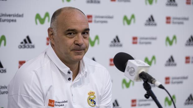 Pablo Laso, durante el «Media day» previo a la temporada 2017/18