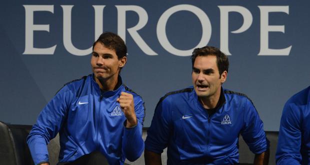 Nadal y Federer en la Copa Laver