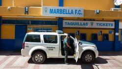 Registro en el estadio del Marbella