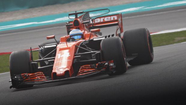 El McLaren de Fernando Alonso