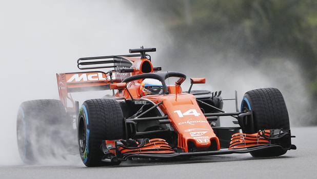 Fernando Alonso, en su McLaren