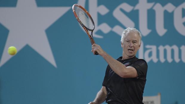 John McEnroe, durante la final de la Senior Masters Cup