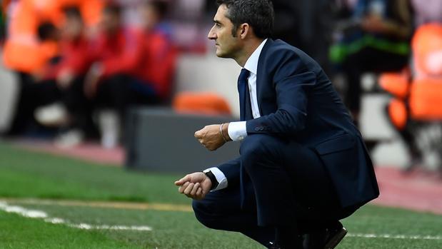 Valverde durante el partido ante Las Palmas