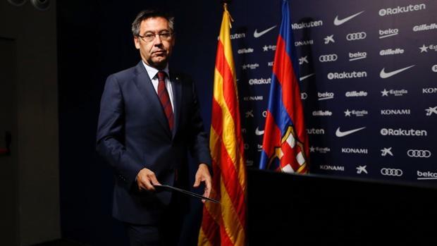 Bartomeu comparece ante la prensa para explicar los motivos por los que el Barça jugó ante Las Palmas