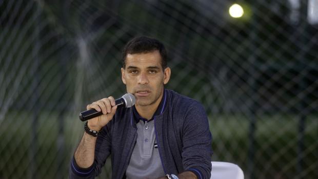 El futbolista mexicano Rafael Márquez durante un mensaje a medios de comunicación