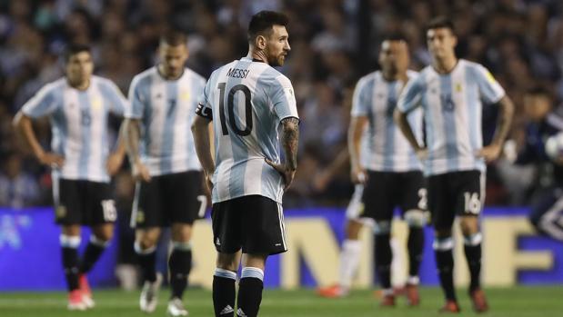 Messi y sus compañeros