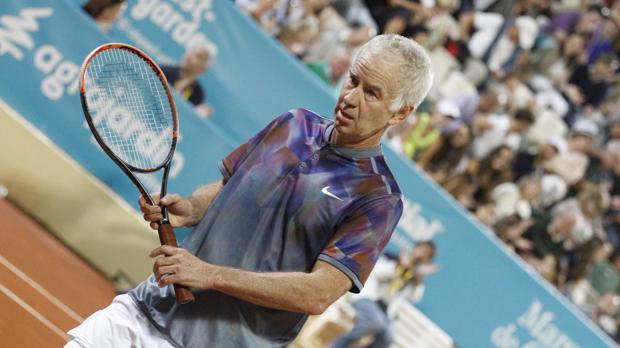 John McEnroe, durante la final del Senior Masters Cup de Marbella