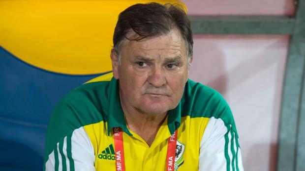 Camacho, entrenador de Gabón, en el partido ante Marruecos