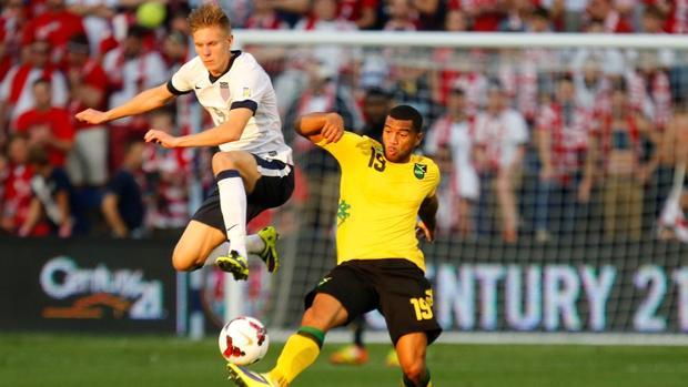 Aron Johannsson, en un partido de Estados Unidos ante Jamaica